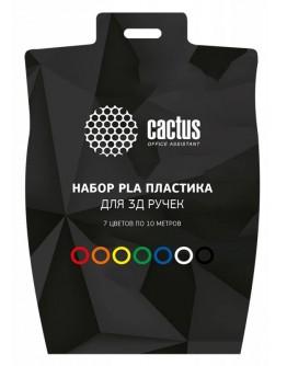 Пластик для ручки 3D Cactus CS-3D-PLA-7X10M PLA d1.75мм L10м 7цв.