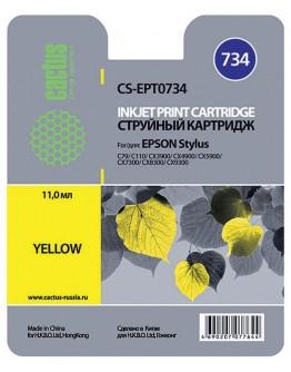 Картридж струйный Cactus CS-EPT0734 желтый для Epson Stylus С79/C110/СХ3900/CX4900/CX5900/CX7300/CX8300/CX9300 (11.4мл)