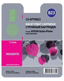 Картридж струйный Cactus CS-EPT0823 пурпурный для Epson Stylus Photo R270/290/RX590 (11.4мл)
