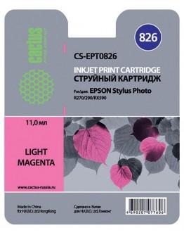 Картридж струйный Cactus CS-EPT0826 светло-пурпурный для Epson Stylus Photo R270/290/RX590 (11.4мл)