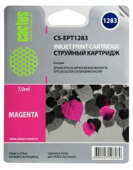 Картридж струйный Cactus CS-EPT1283 пурпурный для Epson Stylus S22/S125/SX420/SX425/Office BX305 (7мл)