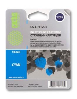 Картридж струйный Cactus CS-EPT1292 голубой для Epson B42/BX305/BX305F/ BX320/BX525/BX625/ SX420/SX425/SX525/SX621 (10мл)
