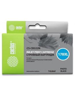 Картридж струйный Cactus CS-CB322N(CS-CB322) №178XL фото черный для HP PS B8553/C5383/C6383/ D5463 (12мл)