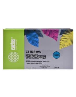 Картридж струйный Cactus №727 CS-B3P19A голубой (130мл) для HP DJ T920/T1500