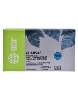 Картридж струйный Cactus №727 CS-B3P23A фото черный (130мл) для HP DJ T920/T1500