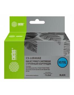 Картридж струйный Cactus 957XL CS-L0R40AE черный (73мл) для HP OfficeJet 8210/8218/8720/8725/8730