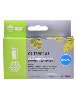 Картридж струйный Cactus №903XL CS-T6M11AE желтый (825стр.) для HP OJP 6950/6960/6970