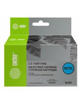 Картридж струйный Cactus №907XL CS-T6M19AE черный (56.6мл) для HP OJP 6950/6960/6970
