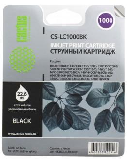 Картридж струйный Cactus CS-LC1000BK для Brother DCP 130C/ 330С, MFC-240C/ 5460CN, черный
