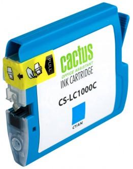 Картридж струйный Cactus CS-LC1000C для Brother DCP 130C/ 330С, MFC-240C/ 5460CN, голубой