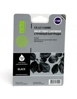 Картридж струйный Cactus CS-LC1100BK для Brother DCP-385c/ 6690cw, MFC-990/ 5890/ 5895/ 6490, черный, 16 мл.
