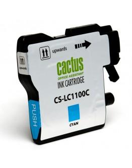 Картридж струйный Cactus CS-LC1100C для Brother DCP-385c/ 6690cw, MFC-990/ 5890/ 5895/ 6490, голубой, 16 мл.