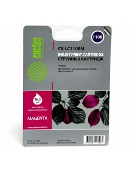 Картридж струйный Cactus CS-LC1100M для Brother DCP-385c/ 6690cw, MFC-990/ 5890/ 5895/ 6490, пурпурный, 16 мл.