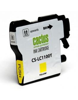 Картридж струйный Cactus CS-LC1100Y для Brother DCP-385c/ 6690cw, MFC-990/ 5890/ 5895/ 6490, желтый, 16 мл.