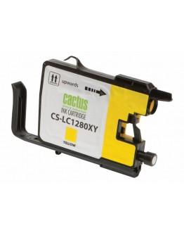 Картридж струйный Cactus CS-LC1280XY для Brother MFC-J6510/ 6910DW, желтый, 16,6 мл.