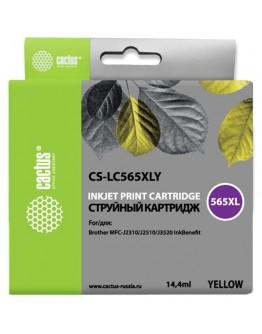 Картридж струйный Cactus CS-LC565XLY желтый для Brother MFC-J2510 (14.4мл)