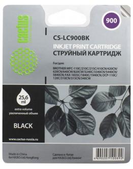 Картридж струйный Cactus CS-LC900BK для Brother DCP-110/ 115/ 120, MFC-210/ 215, FAX-1840, черный, 500 стр.