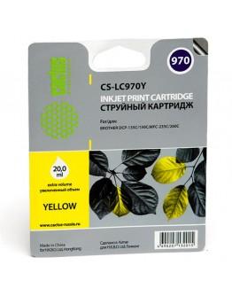 Картридж струйный Cactus CS-LC970Y для Brother MFC-260c/ 235c, DCP-150c/ 135c, желтый, 20 мл.