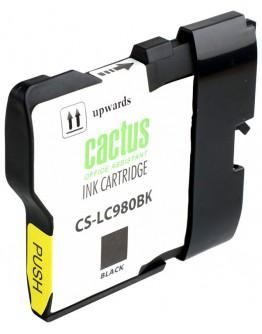 Картридж струйный Cactus CS-LC980BK для Brother DCP-145C/ 165C, MFC-250C/ 290C, черный, 300 стр.