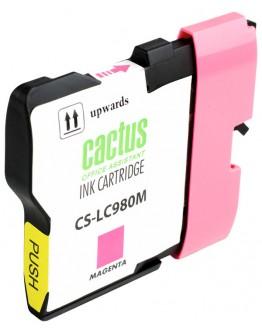 Картридж струйный Cactus CS-LC980M для Brother DCP-145C/ 165C, MFC-250C/ 290C, пурпурный, 260 стр.