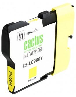 Картридж струйный Cactus CS-LC980Y для Brother DCP-145C/ 165C, MFC-250C/ 290C, желтый, 260 стр.