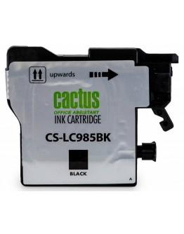 Картридж струйный Cactus CS-LC985BK для Brother DCPJ315W/ J515W, MFC J265W, черный, 300 стр.