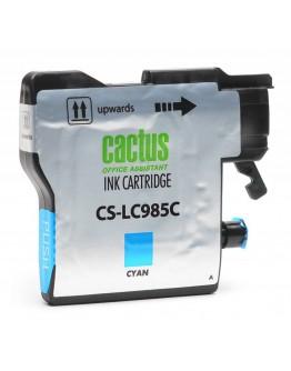 Картридж струйный Cactus CS-LC985C для Brother DCPJ315W/ J515W, MFC J265W, голубой, 260 стр.
