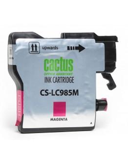 Картридж струйный Cactus CS-LC985M для Brother DCPJ315W/ J515W, MFC J265W, пурпурный, 260 стр
