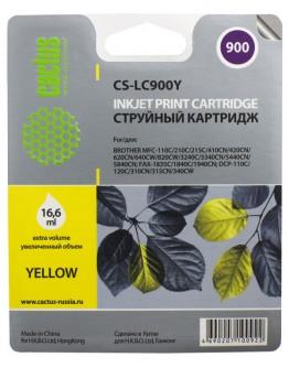 Картридж струйный Cactus CS-LC985Y для Brother DCPJ315W/ J515W, MFC J265W, желтый, 260 стр.