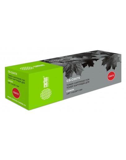 Картридж лазерный Cactus CS-C047X черный (4000стр.) для Canon LBP112/LBP113W
