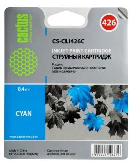 Картридж струйный Cactus CS-CLI426C для Canon Pixma MG5140/ 5240/ 6140/ 8140, MX884, голубой, 8,4 мл.