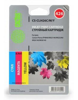 Комплект цветных картриджей Cactus CS-CLI426C/M/Y для CANON PIXMA MG5140/5240/6140/8140, MX884
