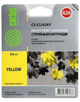 Картридж струйный Cactus CS-CLI426Y для Canon Pixma MG5140/ 5240/ 6140/ 8140, MX884, желтый, 8,4 мл.