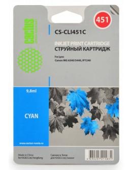 Картридж струйный Cactus CS-CLI451C для Canon MG 6340/ 5440, IP7240, голубой