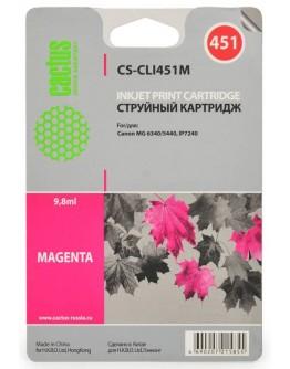 Картридж струйный Cactus CS-CLI451M для Canon MG 6340/ 5440, IP7240, пурпурный