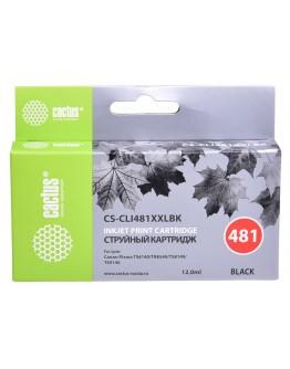 Картридж струйный Cactus CS-CLI481XXLBK черный (12мл) для Canon Pixma TR7540/TR8540/TS6140/TS8140