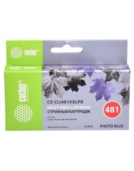 Картридж струйный Cactus CS-CLI481XXLPB фото голубой (12мл) для Canon Pixma TS8140/TS9140