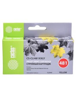 Картридж струйный Cactus CS-CLI481XXLY желтый (12мл) для Canon Pixma TR7540/TR8540/TS6140/TS8140