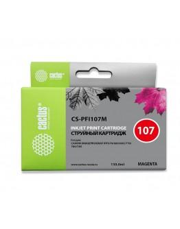 Картридж струйный Cactus CS-PFI107M пурпурный (130мл) для Canon IP iPF670/iPF680/ iPF685/iPF770/ iPF780/iPF785/