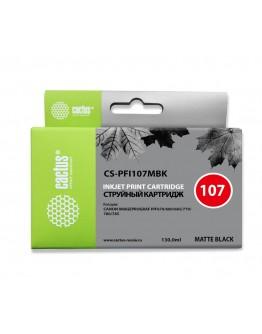 Картридж струйный Cactus CS-PFI107MBK черный матовый (130мл) для Canon IP iPF670/iPF680/ iPF685/iPF770/ iPF780/iPF785
