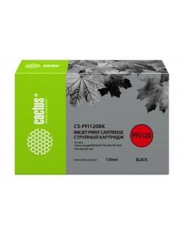 Картридж струйный Cactus CS-PFI120BK черный (130мл) для Canon imagePROGRAF TM-200/TM-205/TM-300/TM-305