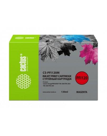 Картридж струйный Cactus CS-PFI120M пурпурный (130мл) для Canon imagePROGRAF TM-200/TM-205/TM-300/TM-305