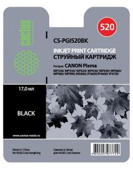 Картридж струйный Cactus CS-PGI520BK для Canon Pixma MP540/ MP550/ MP620/ MP630, черный, 344 стр.