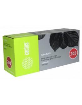 Картридж лазерный Cactus CS-LX203 X203A21G черный для Lexmark X203/204 (2500стр.)