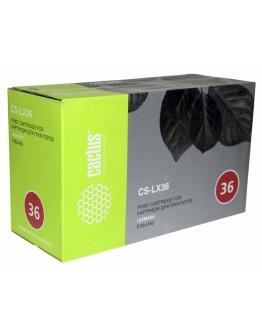 Картридж лазерный Cactus CS-LX36 E360H11E черный для Lexmark Optra E360/E460/E360d/ E460dn/E360dn/E460dw (9000стр.)