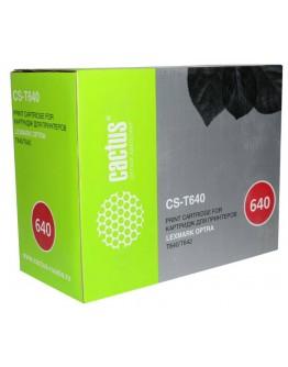 Картридж лазерный Cactus CS-T640 64016HE черный для Lexmark Optra T640/T642 (21000стр.)