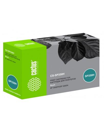 Картридж лазерный Cactus CS-SP330H черный (7000стр.) для Ricoh Aficio SP 330DN/330SFN/330SN