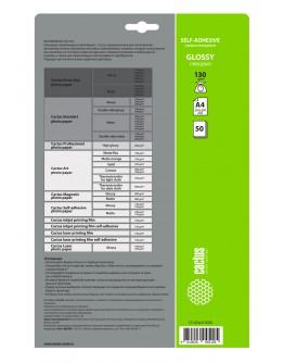 Фотобумага Cactus CS-GSA413050 A4/130г/м2/50л. глянцевое самоклей. для струйной печати