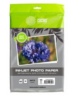 Фотобумага Cactus CS-MA410050ED A4/100г/м2/50л./белый матовое для струйной печати