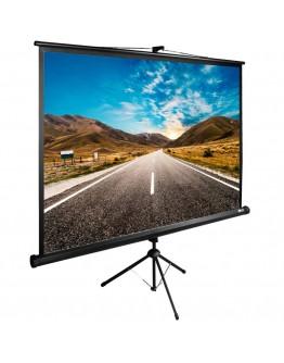 Экран Cactus 160x160см TriExpert CS-PSTE-160x160-BK 1:1 напольный рулонный